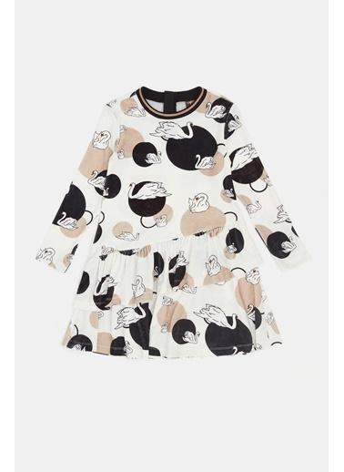 Tyess Kız Çocuk Desenli Elbise 20Fw0Tj4906 Renkli